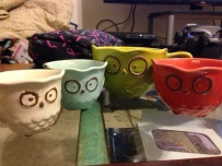 Owl measuring cups in my kitchen colors!!