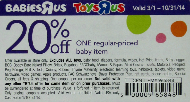 Toys R Us Coupons 20 Off One Item 2015