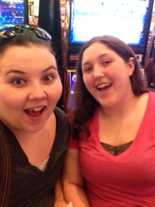 My friend and I at the casino for her birthday!