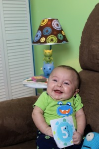My baby boy is 5 months old.